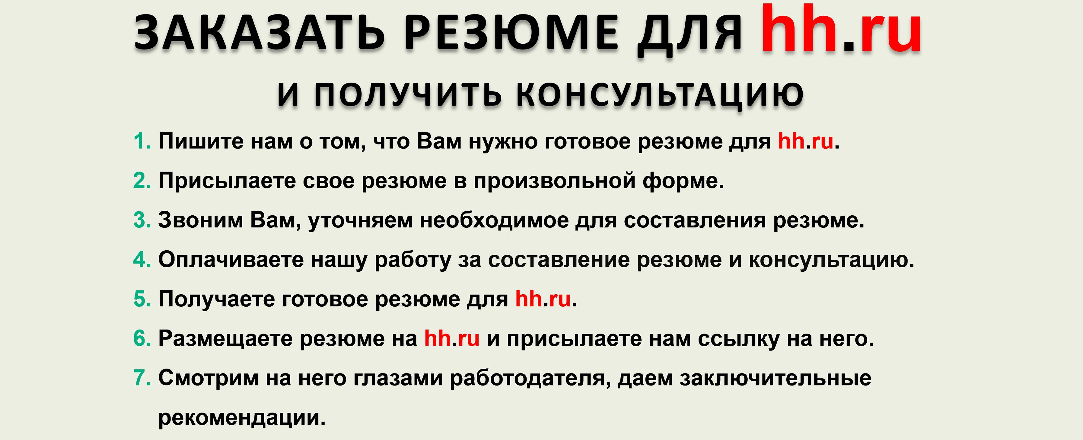 Готовое резюме для hh.ru